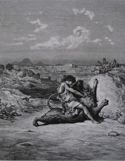 Samson tötet einen Löwen