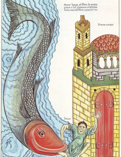 Der Prophet Jonas wird vom Fisch bei Ninive ausgespien