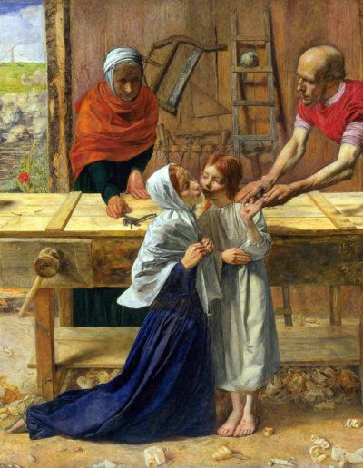 Jesus im Haus seiner Eltern (Die Werkstatt des Zimmermanns)